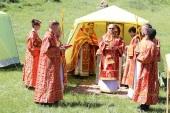 В Горноалтайской епархии в день памяти прмч. Киприана (Нелидова) на месте его кончины была совершена Литургия