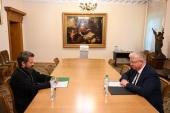 Митрополит Волоколамский Иларион встретился с послом Российской Федерации в Республике Северная Македония