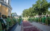 Блаженнейший митрополит Онуфрий в день своего тезоименитства совершил Литургию в Киево-Печерской лавре