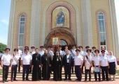 Завершилось пребывание в Элистинской епархии ковчега с мощами благоверного великого князя Александра Невского