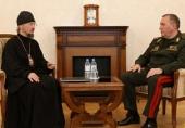 Патриарший экзарх всея Беларуси встретился с министром обороны Республики Беларусь