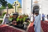 Предстоятель Украинской Православной Церкви совершил заупокойное богослужение в седьмую годовщину кончины Блаженнейшего митрополита Владимира (Сабодана)
