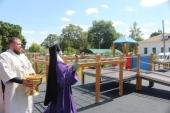В городе Ливны при поддержке Ливенской епархии открыта первая в Орловской области детская инклюзивная площадка