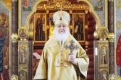 В день памяти первоверховных апостолов Петра и Павла Святейший Патриарх Кирилл совершил уставные богослужения в Александро-Невском скиту