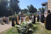 На 40-й день по кончине епископа Аркадия (Афонина) в Борисоглебском Аносином монастыре, где погребен владыка, совершены заупокойные богослужения