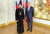 Митрополит Волоколамский Иларион встретился с Чрезвычайным и Полномочным послом России в США