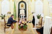 Святейший Патриарх Кирилл встретился с губернатором Волгоградской области А.И. Бочаровым и митрополитом Волгоградским Феодором