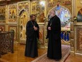 Митрополит Волоколамский Иларион посетил в Вашингтоне Иоанно-Предтеченский собор Русской Зарубежной Церкви