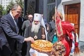 Министр иностранных дел России встретился с главой Среднеазиатского митрополичьего округа