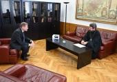 Митрополит Волоколамский Иларион встретился с послом Бельгии в России