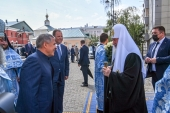Святейший Патриарх Кирилл прибыл с однодневным визитом в Казань