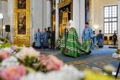 Предстоятель Русской Церкви освятил воссозданный собор на месте явления Казанской иконы Божией Матери