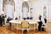 Состоялась встреча Святейшего Патриарха Кирилла с президентом Республики Татарстан Р.Н. Миннихановым