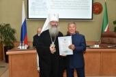 Президент Татарстана и глава Татарстанской митрополии вручили награды за особый вклад в воссоздание Казанского собора