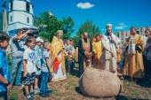 В Альметьевской епархии освящен камень в основание второго корпуса православной гимназии