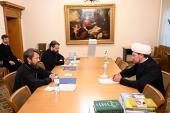 Митрополит Волоколамский Иларион встретился с первым заместителем председателя Духовного управления мусульман РФ