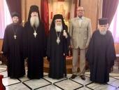 Состоялась встреча Блаженнейшего Патриарха Иерусалимского Феофила с послом России в Израиле А.Д. Викторовым