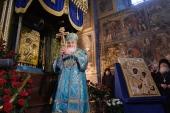 В Тихвинском Богородичном Успенском монастыре освящен Казахстанский список Тихвинской иконы Божией Матери