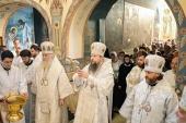 Митрополит Воскресенский Дионисий совершил великое освящение храма Преображения Господня в Переделкине г. Москвы