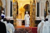 Патриаршая проповедь в праздник Преображения Господня после Литургии в Храме Христа Спасителя
