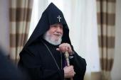 Поздравление Святейшего Патриарха Кирилла Католикосу всех армян Гарегину II с 70-летием со дня рождения
