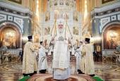 В праздник Собора Соловецких святых Святейший Патриарх Кирилл совершил Литургию в Храме Христа Спасителя