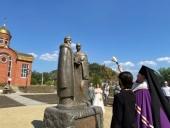 В Златоусте установлен памятник святым благоверным Петру и Февронии Муромским