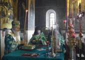 Председатель Синодального отдела по монастырям и монашеству совершил Литургию в Саввино-Сторожевском монастыре в день памяти основателя обители