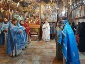 В преддверии праздника Успения Пресвятой Богородицы русское духовенство совершило Литургию у гробницы Божией Матери в Гефсимании