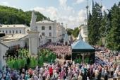 В Святогорской лавре состоялись торжества по случаю дня памяти преподобного Иоанна Затворника