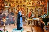 В канун праздника Успения Пресвятой Богородицы Святейший Патриарх Кирилл совершил всенощное бдение в Александро-Невском скиту