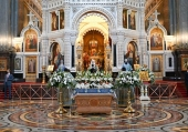 Патриаршая проповедь в праздник Успения Божией Матери после Литургии в Храме Христа Спасителя