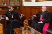 Председатель Отдела внешних церковных связей встретился с Апостольским нунцием в России