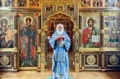 В праздник Собора Московских святых Святейший Патриарх Кирилл совершил Литургию в Александро-Невском скиту
