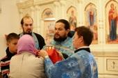 В Благовещенском кафедральном соборе г. Йошкар-Олы состоялась первая Литургия на марийском языке