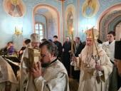 Председатель Синодального отдела по монастырям и монашеству освятил храм прп. Сергия Радонежского в звоннице Саввино-Сторожевского ставропигиального монастыря