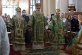 В день памяти благоверного князя Даниила Московского председатель Синодального отдела по монастырям и монашеству возглавил Литургию в Даниловом ставропигиальном монастыре