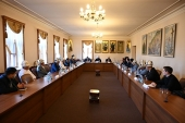 Председатель ОВЦС встретился с делегацией религиозных и государственных деятелей Республики Кыргызстан