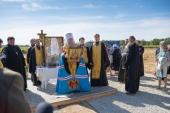 Глава Казахстанского митрополичьего округа заложил в Талдыкоргане собор в честь Рождества Пресвятой Богородицы