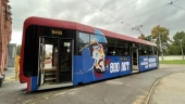 В Санкт-Петербурге запущен трамвай с изображением святого Александра Невского