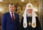 Святейший Патриарх Кирилл встретился с председателем Московского городского суда М.Ю. Птицыным