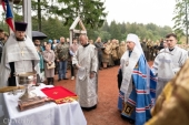 Патриарший экзарх всея Беларуси освятил часовню в честь благоверного князя Александра Невского на территории историко-культурного комплекса «Линия Сталина»