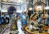 В канун праздника Рождества Пресвятой Богородицы Святейший Патриарх Кирилл совершил всенощное бдение в Храме Христа Спасителя