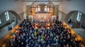 Первая Литургия состоялась в верхнем храме реставрируемого Благовещенского собора города Воткинска