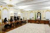 Святейший Патриарх Кирилл возглавил заседание Архиерейского совета Московской митрополии