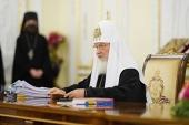 Завершился первый день работы Священного Синода Русской Православной Церкви