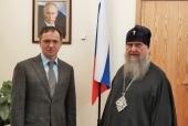 В Москве состоялась встреча митрополита Астанайского и Казахстанского Александра и помощника Президента России В.Р. Мединского