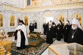 Члены Священного Синода совершили литию по митрополиту Луганскому Митрофану и митрополиту Ровенскому Варфоломею