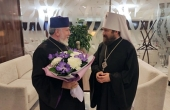 Patriarch-Catholicos Karekin II arrives in Moscow at the invitation of His Holiness Patriarch Kirill