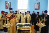 Блаженнейший митрополит Онуфрий освятил часовню в честь святого равноапостольного князя Владимира в городе Изюм